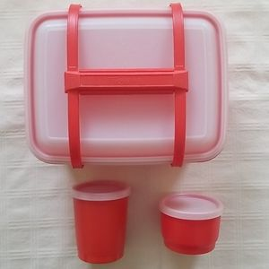 Vintage lunch pack, snack cup and drinking cup